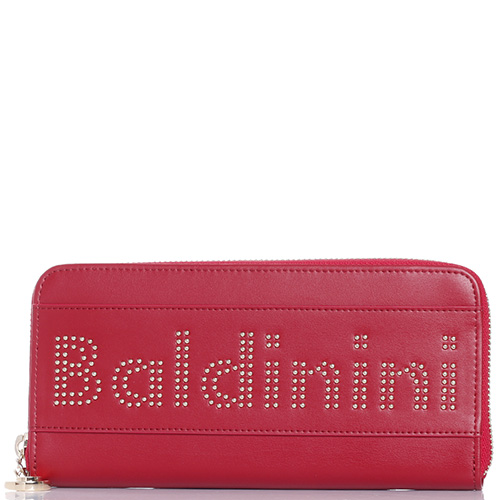 Красный кошелек Baldinini Clara с брендированием из заклепок, фото