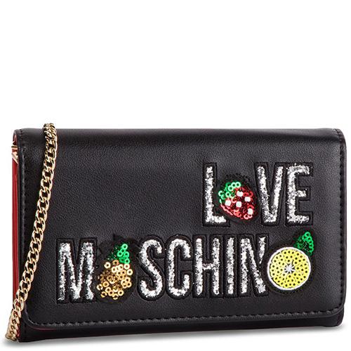 Кошелек Love Moschino с декором из блесток и пайеток, фото