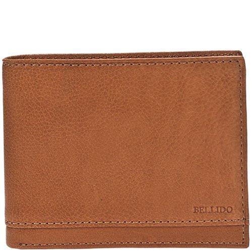 Коричневое портмоне из кожи Miguel Bellido Nature со съемной кредитницей, фото