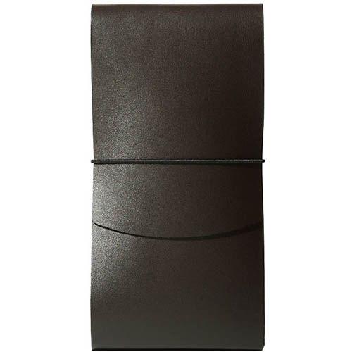 Тонкое портмоне Moreca Origami на резинке коричневого цвета, фото