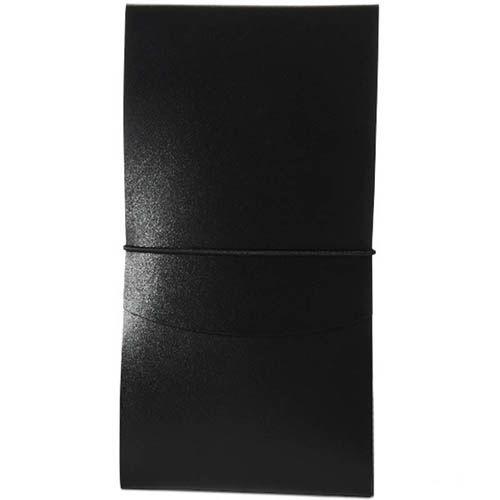 Тонкое портмоне Moreca Origami на резинке черного цвета, фото