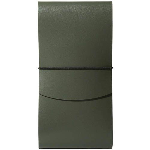 Тонкое портмоне Moreca Origami на резинке зеленого цвета, фото