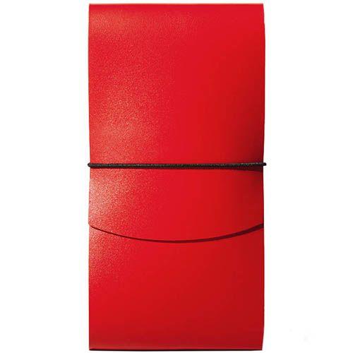 Тонкое портмоне Moreca Origami на резинке красного цвета, фото