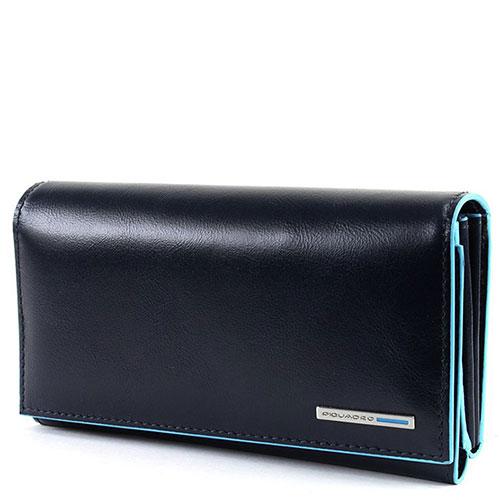 Синий портмоне Piquadro Bl Square с RFID защитой , фото