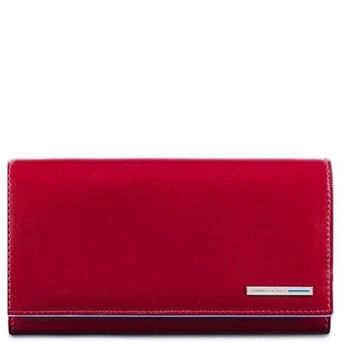 Женское портмоне Piquadro Bl Square в красном цвете, фото