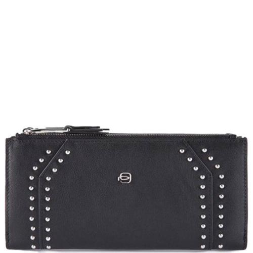 Женское портмоне Piquadro Muse черного цвета, фото