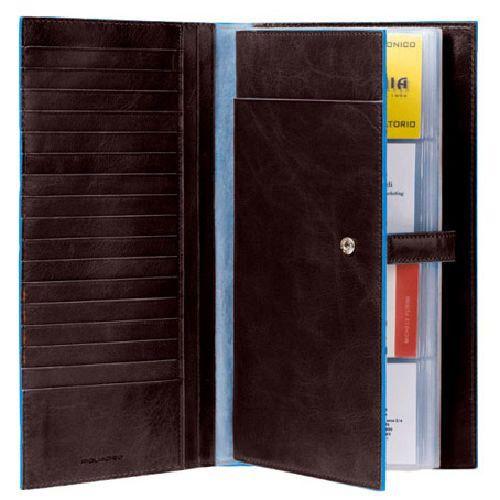 Визитница Piquadro с отделениями для кредитных карт Blue Square коричневая, фото