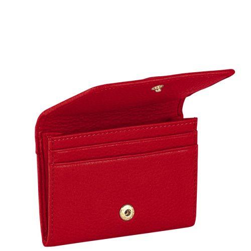 Визитница Piquadro с отделением для кредиток Shimmer красная, фото