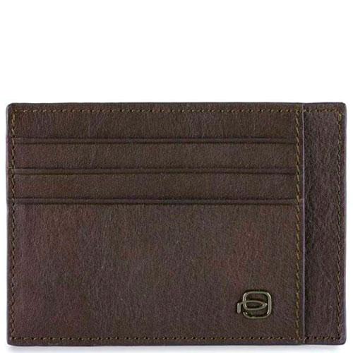Кредитница Piquadro Bk Square с RFID защитой коричневого цвета, фото
