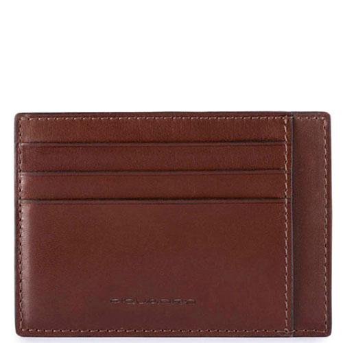 Кредитница Piquadro Bold с RFID защитой коричневого цвета, фото