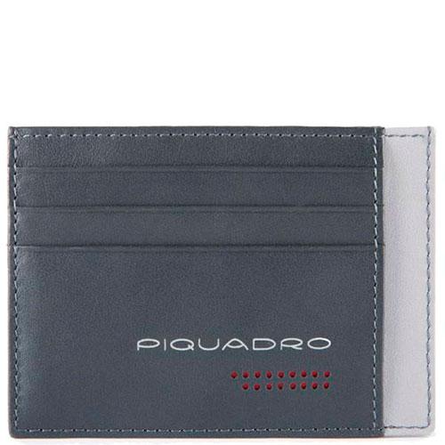 Синяя кредитница Piquadro Urban с RFID защитой, фото