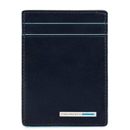 Кредитница Piquadro Bl Square с зажимом для банкнот синего цвета, фото