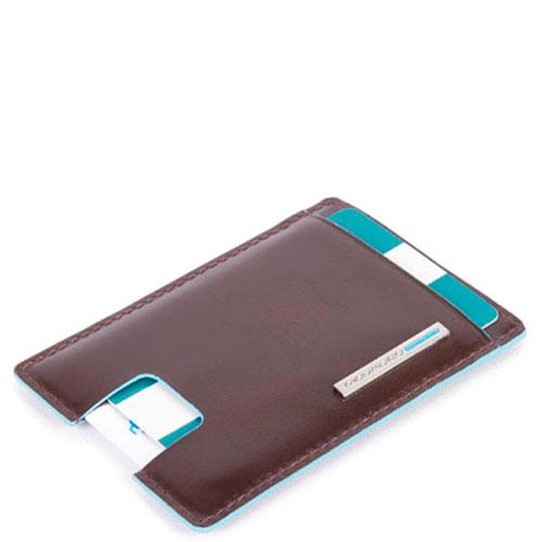 Коричневая кредитница Piquadro Bl Square с RFID защитой , фото
