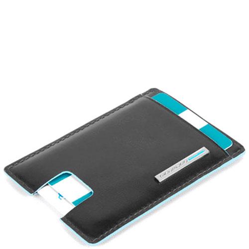 Кредитница Piquadro Bl Square с RFID защитой черного цвета, фото