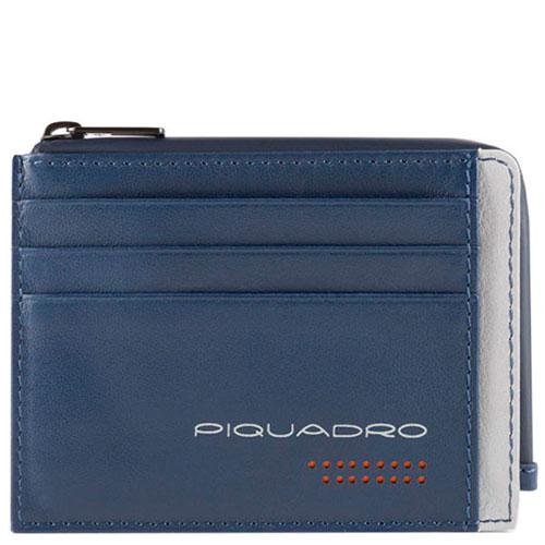 Кредитница Piquadro Urban с отделением для монет на молнии, фото
