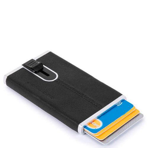 Кредитница Piquadro Bk Square с выдвижным механизмом и RFID защитой , фото