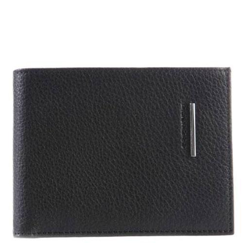 Черный портмоне Piquadro Modus с отделением для монет, фото