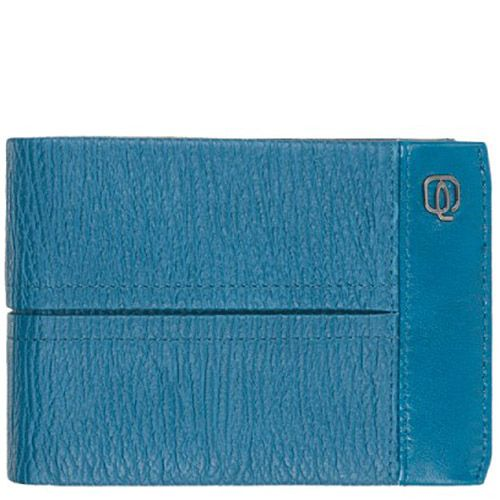 Портмоне мужское Piquadro Signo голубого цвета на 12 кредитных карт, фото