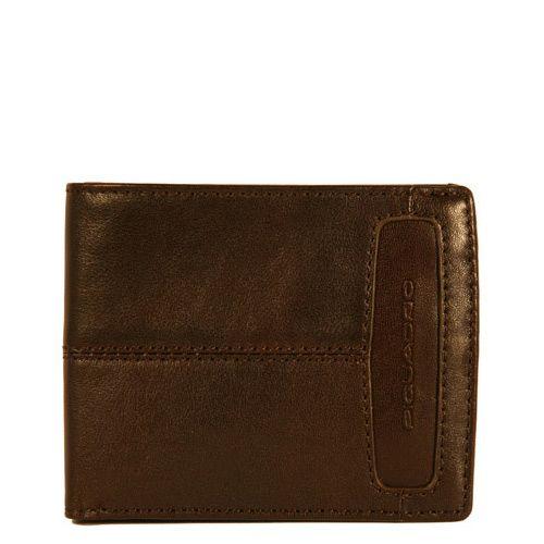 Портмоне Piquadro Link на 8 кредиток коричневое, фото