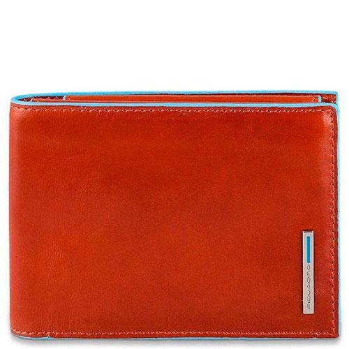 Портмоне Piquadro Bl Square оранжевого цвета с RFID защитой , фото