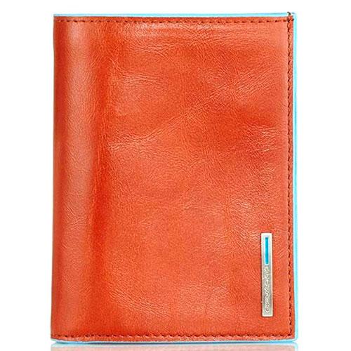 Мужской портмоне Piquadro Bl Square оранжевого цвета, фото