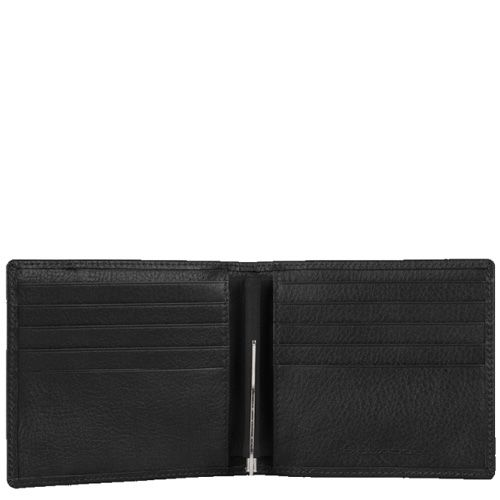 Портмоне Piquadro Vibe черное с зажимом для банкнот, фото