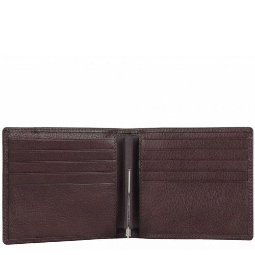 Портмоне Piquadro Vibe коричневое с зажимом для банкнот, фото