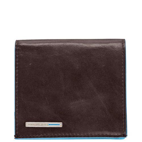 Портмоне Piquadro с отделением для монет Blue square коричневое, фото