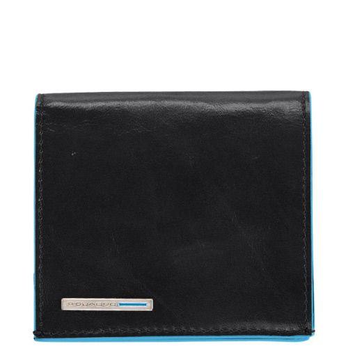 Портмоне Piquadro с отделением для монет Blue square черное, фото