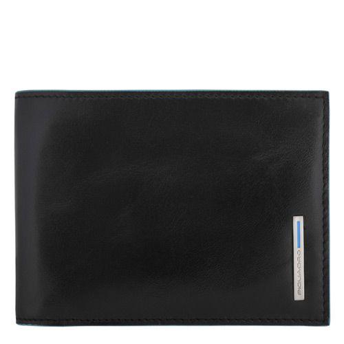 Мужское портмоне Piquadro с отделеием для чековой книжки Blue Square черное, фото
