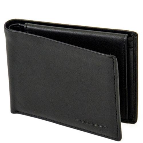 Портмоне Piquadro Tag с отделением для монет и RFID защитой черного цвета, фото