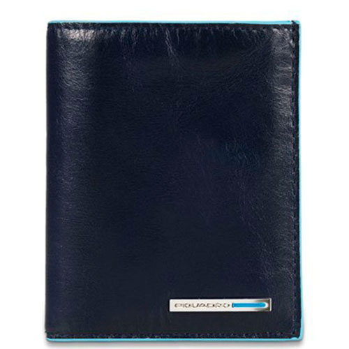 Портмоне Piquadro Bl Square с отделением для кредитных карт синего цвета, фото