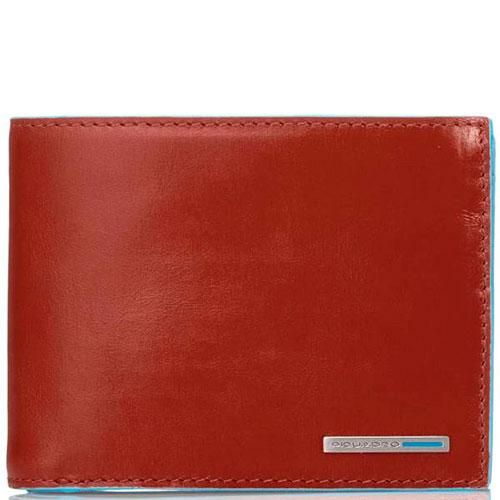 Оранжевое портмоне Piquadro Bl Square с отделением для монет, фото