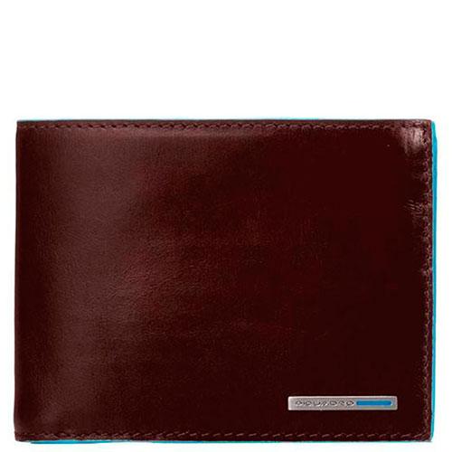 Портмоне Piquadro Bl Square с отделением для монет и карт коричневого цвета, фото