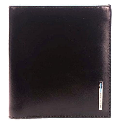 Черный портмоне Piquadro Bl Square с отделением для 9 кредитных карт, фото