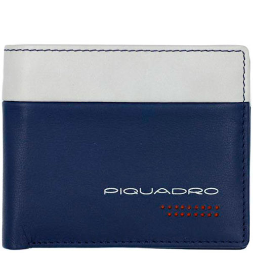 Мужское портмоне Piquadro Urban синего цвета, фото