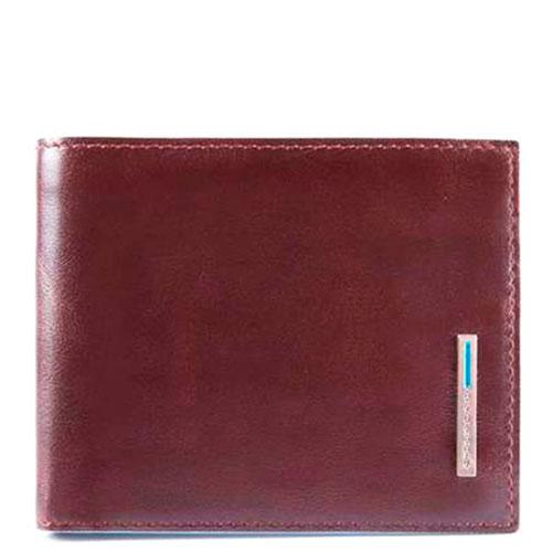 Коричневый портмоне Piquadro Bl Square с RFID защитой , фото
