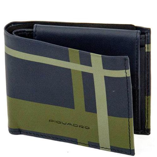 Синий портмоне Piquadro Tag с RFID защитой , фото