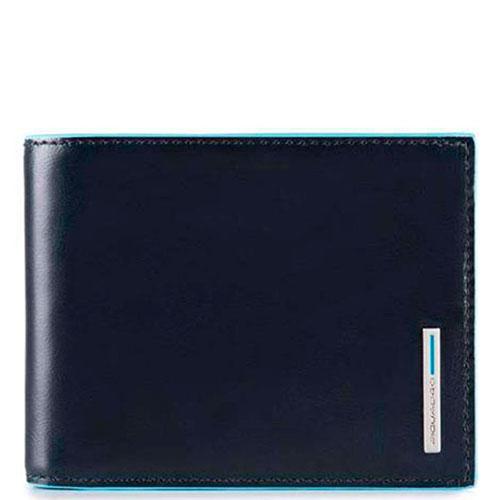 Мужское портмоне Piquadro Bl Square синего цвета, фото