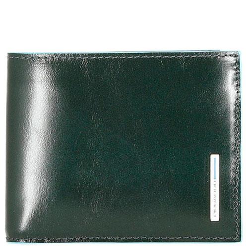 Мужское портмоне Piquadro Bl Square зеленого цвета, фото