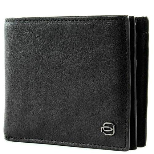 Портмоне Piquadro Bk Square черного цвета с отделением для монет, фото