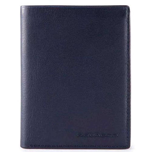 Портмоне Piquadro Tag с отделением для монет и 14 кредитных карт синего цвета, фото