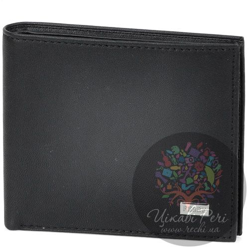 Портмоне Ferre горизонтальное из черной кожи с 8 слотами для карт, фото