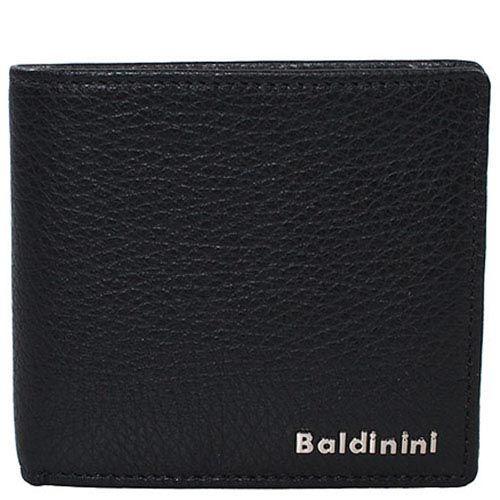 Портмоне из зернистой кожи Baldinini черного цвета, фото