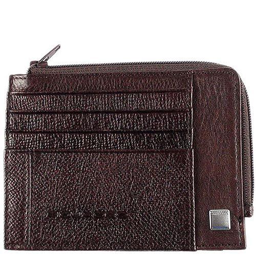 Холдер Piquadro Forest коричневого цвета для банкнот и кредитных карт, фото