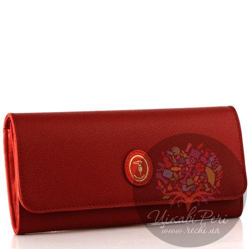 Портмоне Trussardi из кожи классического красного цвета, фото