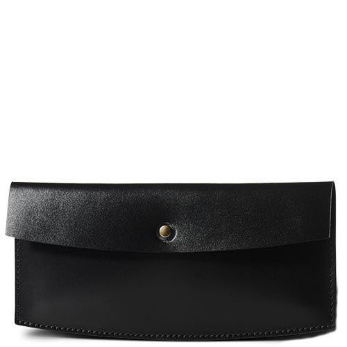 Черный кожаный ticket-кейс Moreca Black для авиабилетов и банкнот, фото