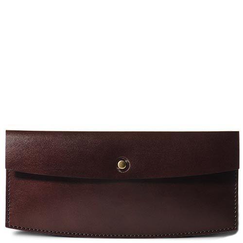 Коричневый кожаный кейс Moreca для авиабилетов и банкнот, фото