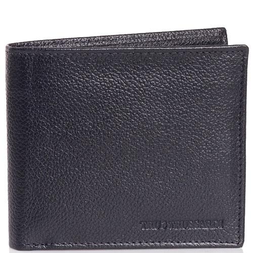 Черное портмоне Trussardi Jeans из зернистой кожи, фото