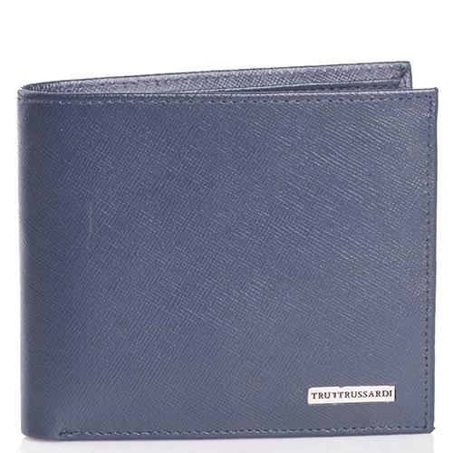 Синее портмоне Trussardi Jeans с тиснением сафьяно, фото